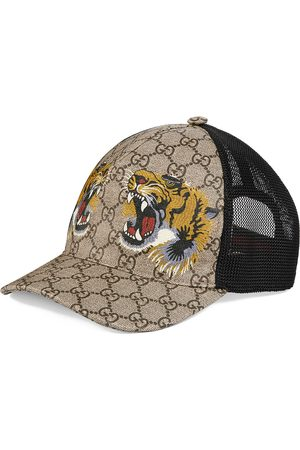 Gucci Herren Hüte - GG Supreme Baseballkappe mit Tiger-Print