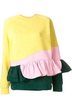 Ioana Ciolacu Gerüschtes Sweatshirt in Colour-Block-Optik