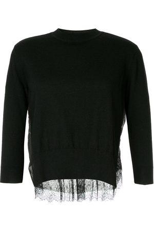 Onefifteen Pullover mit Spitzeneinsatz