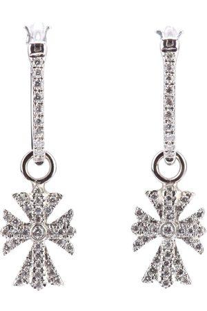 ELISE DRAY Damen Ohrringe - 18kt Weißgoldohrringe mit Diamanten