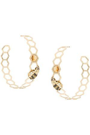DELFINA DELETTREZ 9kt Goldohrringe mit Diamanten