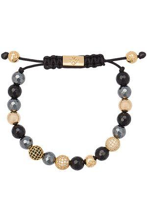 Nialaya Kugelarmband mit Hermatiten, Agaten und vergoldeten Silberkugeln