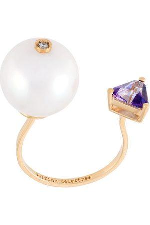 DELFINA DELETTREZ 18kt 'Trillion' Gelbgoldring mit Diamanten