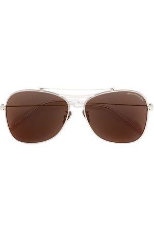 Alexander McQueen Piercing Shield' Sonnenbrille