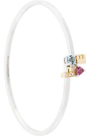 DELFINA DELETTREZ 18kt 'Love' Weißgoldarmreif mit Diamanten