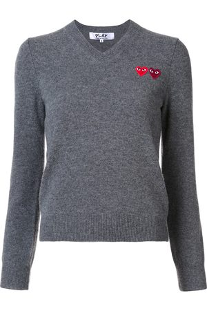 Comme des Garçons Damen Strickpullover - Pullover mit Logo-Patches