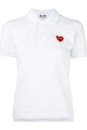 Comme des Garçons Poloshirt mit Herz-Patch