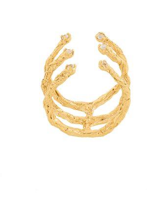 NIZA HUANG Damen Ringe - Vergoldeter 'Moments 6' Ring mit Topas