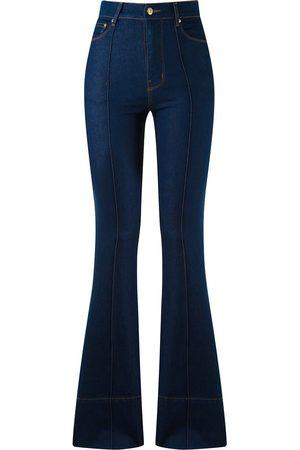 AMAPÔ Damen Bootcut - Jeans mit hohem Bund