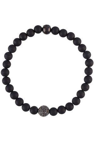 Nialaya Klassisches Onyx-Perlenarmband