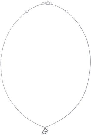 ALINKA 18kt ' B' Weißgoldhalskette mit Diamanten