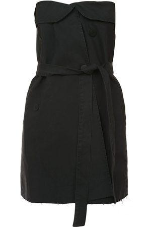 Unravel Project Damen Freizeitkleider - Schulterfreies Minikleid mit Gürtel