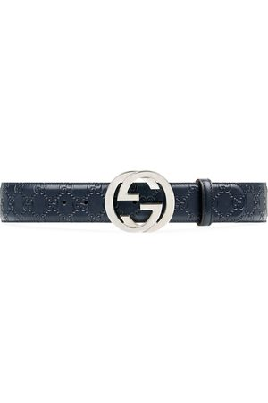 Gucci Ledergürtel mit GG-Schnalle