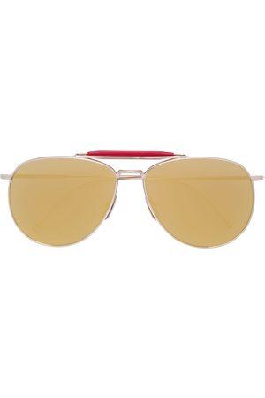 Thom Browne Sonnenbrillen - Pilotenbrille mit rotem Steg