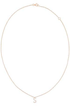 ALINKA Damen Halsketten - 18kt ' S' Rotgoldhalskette mit Diamanten