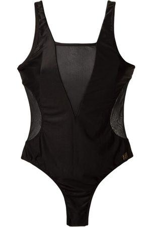 Brigitte Badeanzug mit semi-transparenten Einsätzen
