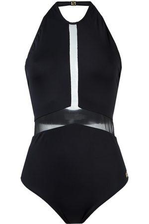 Brigitte Badeanzug mit semi-transparentem Einsatz