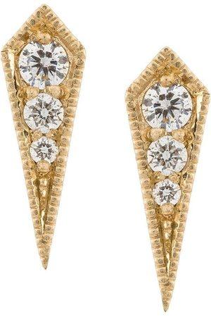 Lizzie Mandler Damen Ohrringe - 18kt 'Kite' Goldohrstecker mit Diamanten