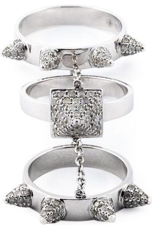 ELISE DRAY Damen Ringe - Dreiteiliger 'Piccadilly' Diamantring