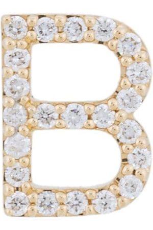 ALINKA Damen Ohrringe - 18kt 'B' Gelbgoldohrstecker mit Diamanten