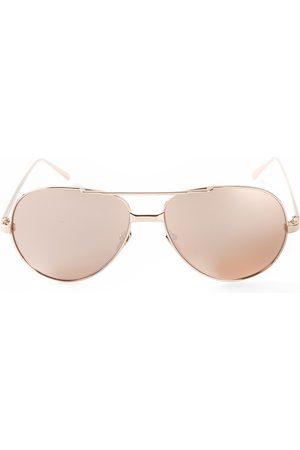 Linda Farrow 128' Sonnenbrille aus 22kt Gold