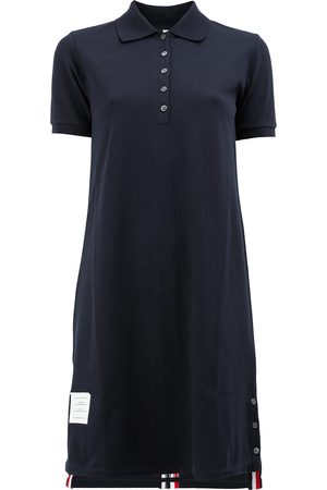 Thom Browne Damen Bedruckte Kleider - Poloshirtkleid mit Streifen