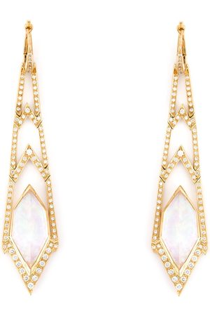 STEPHEN WEBSTER Damen Ohrringe - Lange 'Crystal Haze' Ohrringe aus Gelbgold und Diamanten