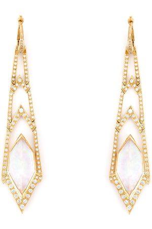STEPHEN WEBSTER Lange 'Crystal Haze' Ohrringe aus Gelbgold und Diamanten