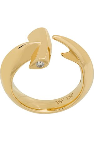 STEPHEN WEBSTER 18kt 'Hammerhead' Gelbgoldring mit Diamanten