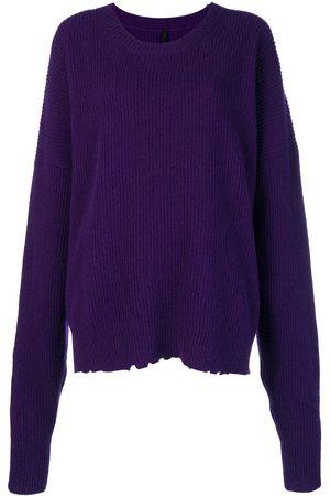 UNRAVEL PROJECT Damen Strickpullover - Oversized-Pullover mit rundem Ausschnitt