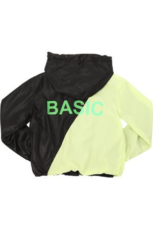 DUO TRAININGSJACKE AUS NYLON MIT KAPUZE