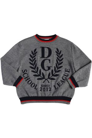 Dolce & Gabbana SWEATER AUS WOLLSTRICK MIT LOGOINTARSIE