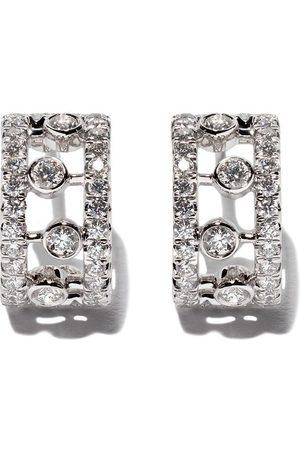 De Beers Damen Ohrringe - 18kt 'Dewdrop' Weißgoldohrringe mit Diamanten