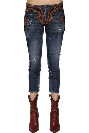 "Dsquared2 JEANS AUS DENIM UND LEDER ""COOL GIRL"""