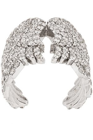 MONAN 18kt Weißgoldring mit Diamanten