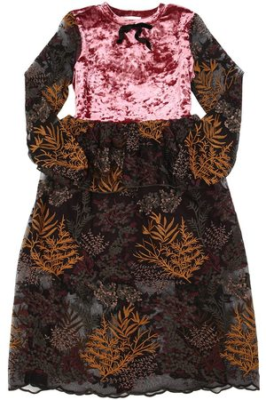 PAADE WENDY LACE & VELVET LONG DRESS