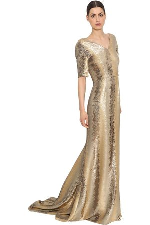 INGIE SEQUINED TULLE LONG DRESS
