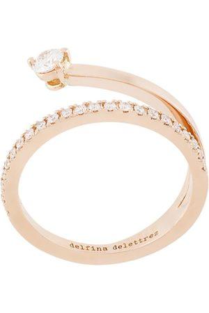 DELFINA DELETTREZ 18kt 'Marry Me' Gelbgoldring mit Diamanten