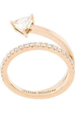 DELFINA DELETTREZ Damen Ringe - 18kt 'Marry Me' Gelbgoldring mit Diamanten