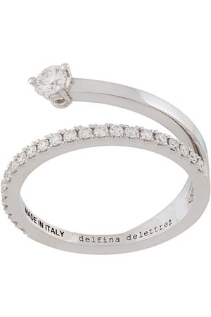 DELFINA DELETTREZ 18kt 'Marry Me' Weißgoldring mit Diamanten