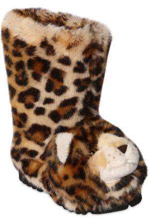"""Dolce & Gabbana Stiefel Aus Plüsch """"leopard"""""""