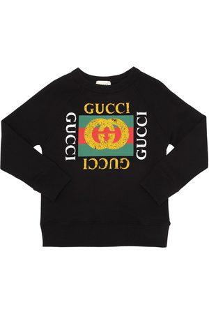 Gucci Sweatshirt Aus Baumwolle Mit Logodruck