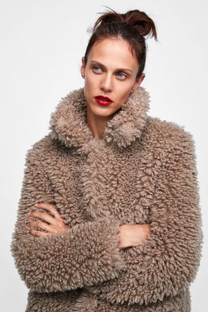Zara SOFT FAUX FUR JACKET