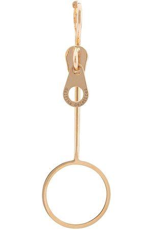 DELFINA DELETTREZ Ohrring im Reißverschluss-Design