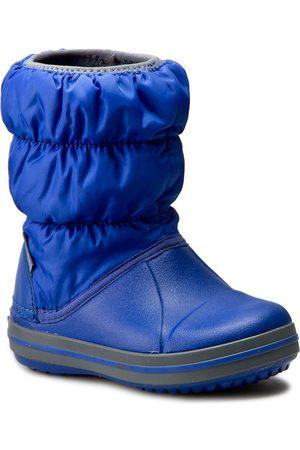 Crocs Schneeschuhe - Winter Puff Boot Kids 14613 Cerulean Blue/Light Grey