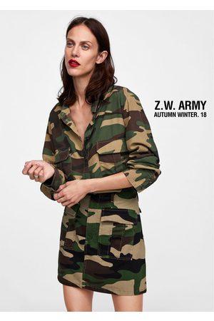 Zara kleid camouflage