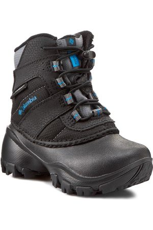 Columbia Trekkingschuhe - Childrens Rope Tow III Waterproof BC1322 Black/Dark Compass 010
