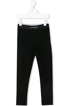 Dolce & Gabbana Kids Leggings mit Logo-Bund