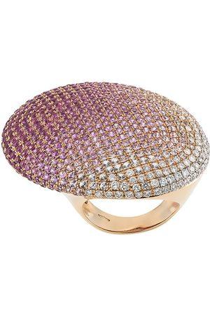 Gavello Damen Ringe - 18kt Rotgoldring mit Diamanten