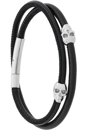 NORTHSKULL Wickelarmband mit Totenköpfen